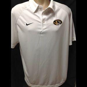 Men's size Medium NIKE MIZZOU dry-fit polo shirt